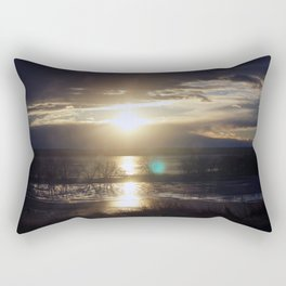 Frozen Sunset Rectangular Pillow