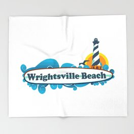 Wrightsville Beach - North Carolina. Throw Blanket