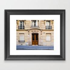 PARIS DOORS: NO. 6 (Paris, France) Framed Art Print