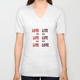 Love Life in Red Unisex V-Neck