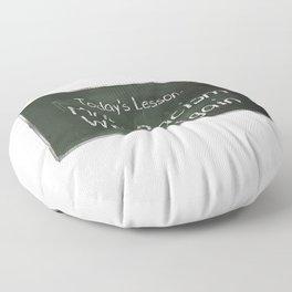Make Racism Wrong Again Chalkboard Floor Pillow