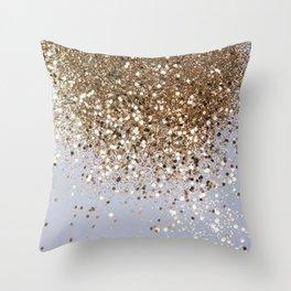 Sparkling Champagne Gold Glitter Glam #1 #shiny #decor #art #society6 Throw Pillow
