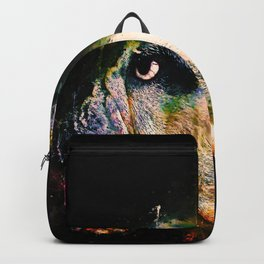 english bulldog dog splatter watercolor Backpack