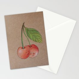 Shy cherries Stationery Cards