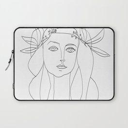 Picasso Line Art - Woman's Head Laptop Sleeve