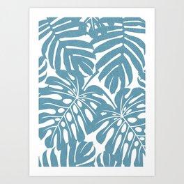 Mavi Palm Leaves Art Print