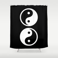 yin yang Shower Curtains featuring Yin Yang by Beautiful Homes