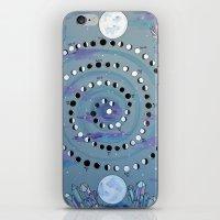 calendar iPhone & iPod Skins featuring MOON CALENDAR by SpiritYSol
