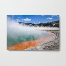 Champagne Pool hot lake in Waiotapu, Rotorua, New Zealand Metal Print