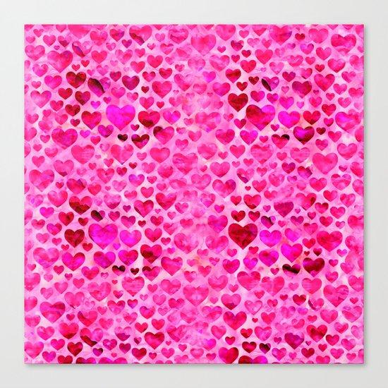Heart Pattern 07 Canvas Print