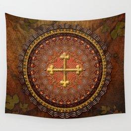 Mandala Armenian Cross Wall Tapestry