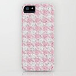 Light Pink Buffalo Plaid iPhone Case