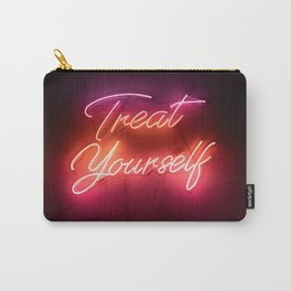 Treat Yourself Neon Sign Carry-All Pouch