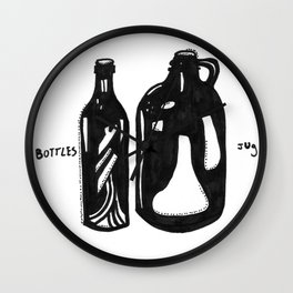 Bottle & Jug Wall Clock