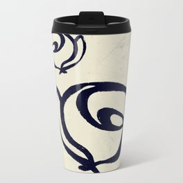 Flowers, Mother-Daughter Tan Travel Mug