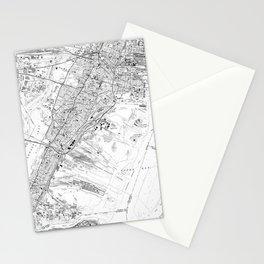 Vintage Map of Jersey City NJ (1967) BW Stationery Cards