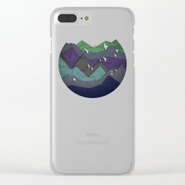 Mountain Layers Clear iPhone Case