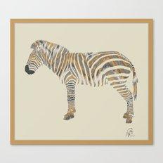 Chevron Zebra Canvas Print