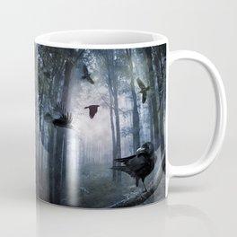 Misty Forest Crows Coffee Mug