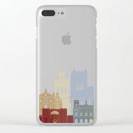 Avila skyline poster Clear iPhone Case