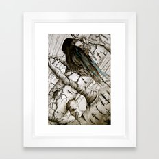 the raven girl Framed Art Print