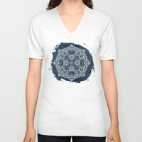 blueprint V-neck T-shirts featuring Natural Blueprint by DebS Digs Photo Art