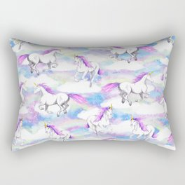 Unicorns and Rainbows Rectangular Pillow