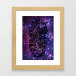 Space Pineapple Framed Art Print