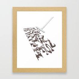 cleanliness is half of faith Framed Art Print