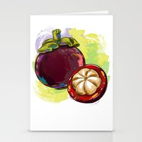 vietnam Stationery Cards featuring Vietnam Mangosteen by Vietnam T-shirt Project