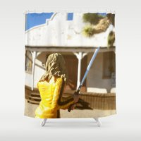 kill bill Shower Curtains featuring Kill Bill: The Bride Returns by Chris Bergeron
