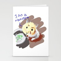 hamster Stationery Cards featuring Hamster by wingnang