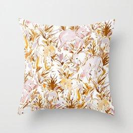 ELEPHANT STOMP Safari Print Throw Pillow