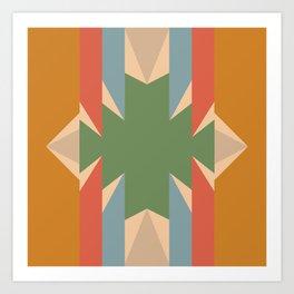 Orange Star - Style Me Stripes Art Print