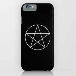 White Pentacle iPhone Case