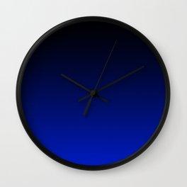 Black and Dark Blue Gradient 061 Wall Clock