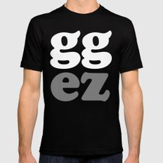 gg ez Black Mens Fitted Tee MEDIUM