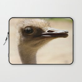 Ostrich In My Face Laptop Sleeve