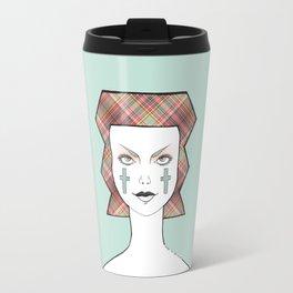 Tartan blue Travel Mug