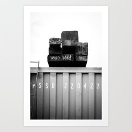 Padstow Container  Art Print