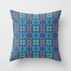 Soft Blue Butterfly Throw Pillow