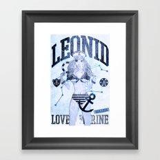 LEONID ICE BLUE Framed Art Print