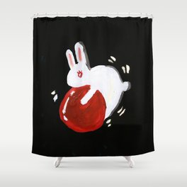 Rabbit Hump Shower Curtain