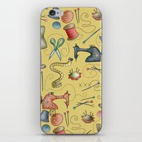 sewing iPhone & iPod Skins featuring Sewing tools by Catru