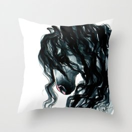 Andalusian Horse Portrait Throw Pillow