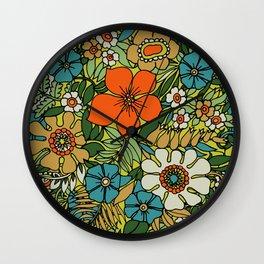 70s Plate Wall Clock