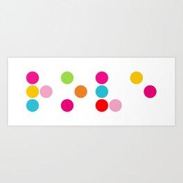 Braille love word Art Print