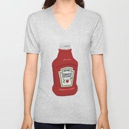 Ketchup Pop Art Unisex V-Neck
