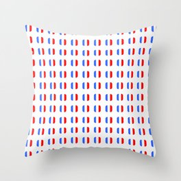 Flag of France - with soft square Throw Pillow