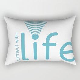 Connect with Life Rectangular Pillow